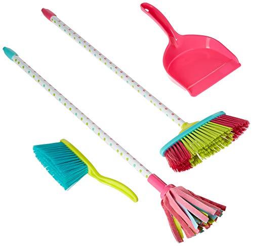 Playkidz Kids Cleaning Set Includes Broom Mop Dustpan