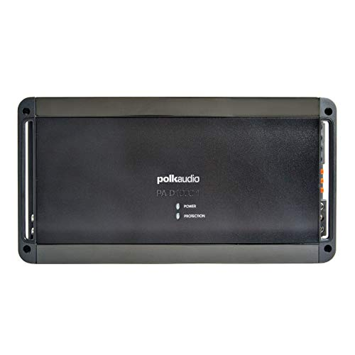 Polk Audio PA D1000.1 Class D MOSFET Monoblock Mobile Audio Amplifier; 500 Watts RMS @ 4 ohms, 800 Watts RMS @ 2 ohms and 1200 Watts RMS @ 1 ohm; Remote Subwoofer Level Control