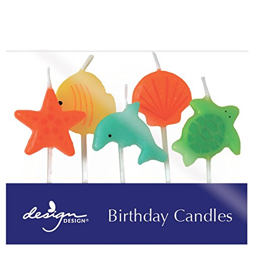 Design Design Sea Friends Birthday Candles, Multicolor