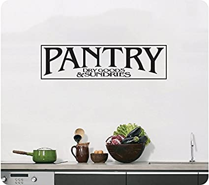24quot Pantry Sign Dry Goods And Sundries Kitchen Door Food Wall Decal Sticker Art