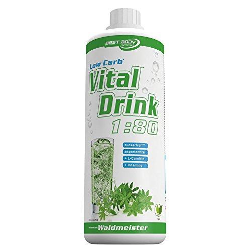 Best Body Nutrition Vital Drink, Waldmeister, 1er Pack (1 x 1000ml)