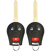 KeylessOption Keyless Entry Remote Control Car Uncut Ignition Key Fob Replacement for CWTWB1U751 (Pack of 2)
