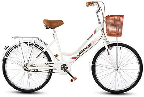 KUYT Bicicleta de Ciudad para niñas de 22 Pulgadas luz para niños ...