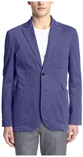 Hardy Amies Men's 2 Button Moleskin Sportcoat, Navy, 42R US