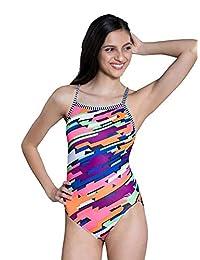 Dolfin Uglies de una Sola Pieza de la Mujer V-2Back swimsuit-9502l