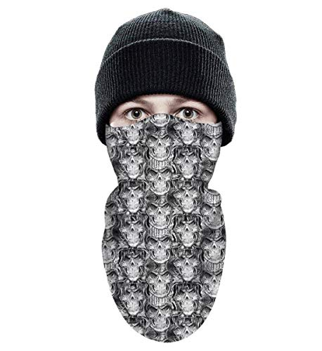 Adult Ski face Mask Winter Moutdoor skining Winter Ski Mask Balaclava Warm Fleece Excellent Ventilation Tactical Winter Face Mask Halloween Skull -