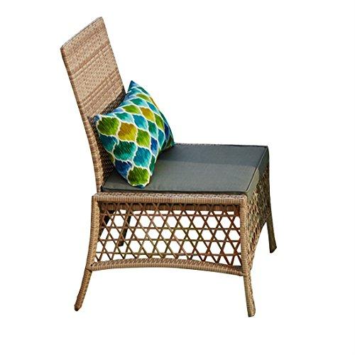 Cheap BrylaneHome Santa Rosa Resin Wicker Dining Chair (Gray,0)