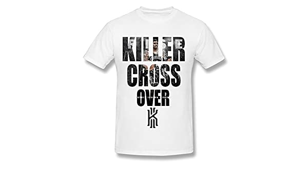 Amazon.com: WXTEE Mens Kyrie Irving Killer Crossover O-Neck T-shirt Size S White: Books