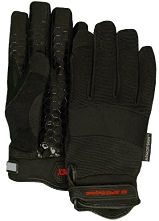 Majestic Glove 2126BK Armor Skin Synthetic Leather X30 Special Purpose Mechanic Glove with Velcro Wrist Closure, Work, 2X-Large, Black (Pack of 12 Pairs)