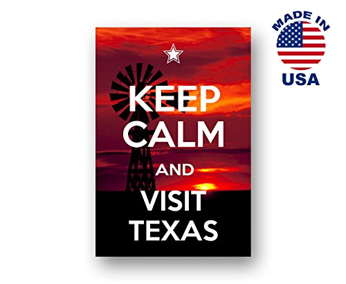 KEEP CALM AND VISIT TEXAS postcard set of 20 identical postcards. Quality post cards pack. Made in USA.
