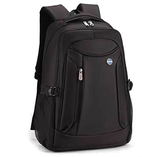 Männer Frauen Große Kapazität Laptop Backpacks Rucksäcke 17 Aktentasche Notebook Computer Rucksack Daypacks Schultaschen Reisetasche Wanderntasche (Schwarz) Schwarz