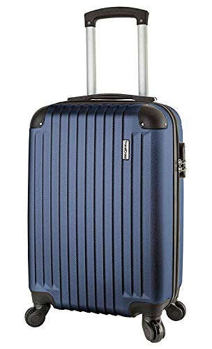 TravelCross Philadelphia 20'' Carry On Lightweight Hardshell Spinner Luggage - Dark Blue