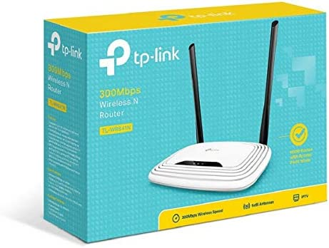 TP-Link N300 Wireless Extender, Wi-Fi Router (TL-WR841N) - 2 x 5dBi High Power Antennas, Supports Access Point, WISP, Up to 300Mbps