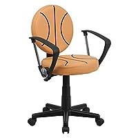 Flash Furniture Basketball Task Chair - Orange, Arms