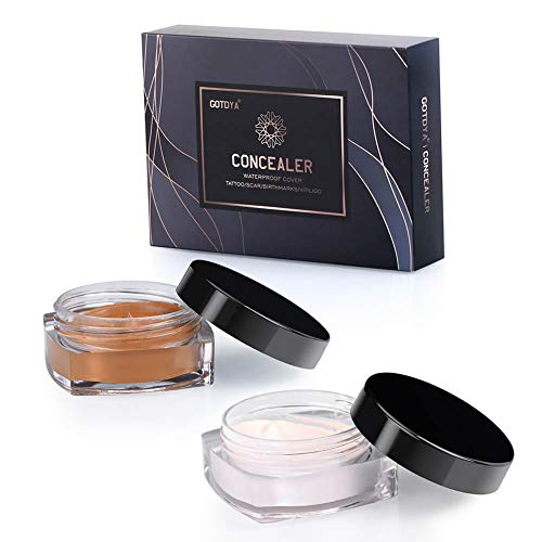 ttoo Cover Up Makeup Waterproof, Professional Concealer Cream Kit to Covers Vitiligo, Birthmarks, Scar, Tattoos and other Skin Dark Spots ()