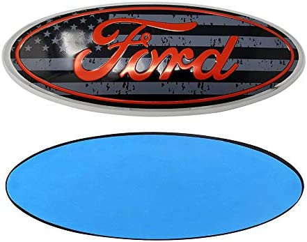 All Black 3D Oval 3M Double Side Adhesive Tape Sticker Badge for Ford Escape Excursion Expedition Freestyle F-150 F-250 F350 FORD 7 Inch Front Grille Tailgate Emblem
