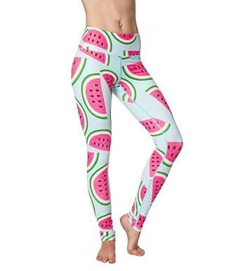 7f9c12bb5295d Watermelon Flexi Yoga Leggings: Amazon.co.uk: Clothing