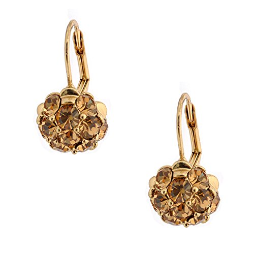 Topwholesalejewel Bridal Jewelry Gold Plated Light Colorado Topaz Stud Wire Earrings