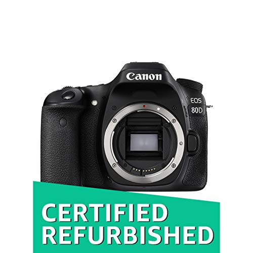 Canon EOS 80D Digital SLR Camera Body (Black) (Certified Refurbished)