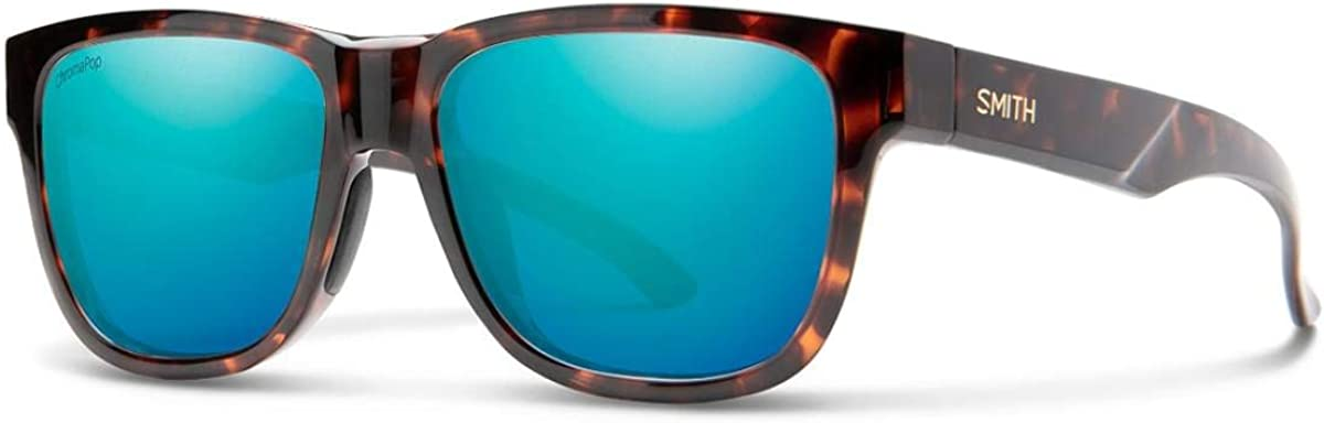 Smith Optics Lowdown Slim 2 Sunglasses, Tortoise/Chromapop Polarized Opal Mirror