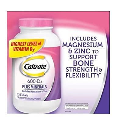 Caltrate 600mg + D3 with Minerals, 320 Count