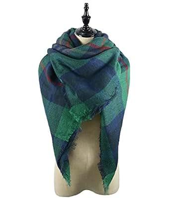 Zando Cozy Thick Oversized Plaid Blanket Scarfs for Women