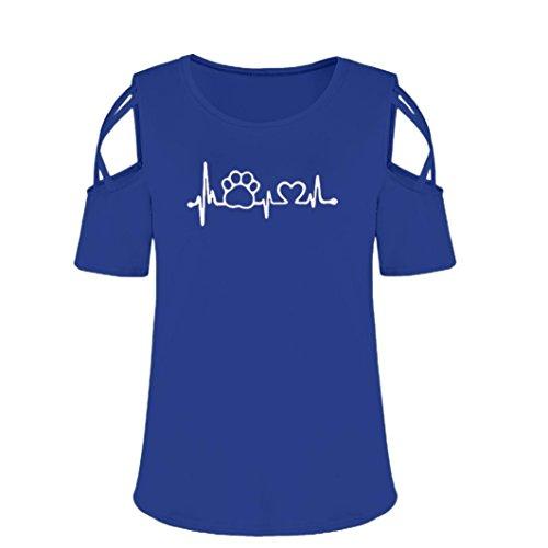 Punta con Unita Bottoni Tinta Corta Blue3 A Donna Camicia Manica SANFASHION Tonda xYqwI5gq