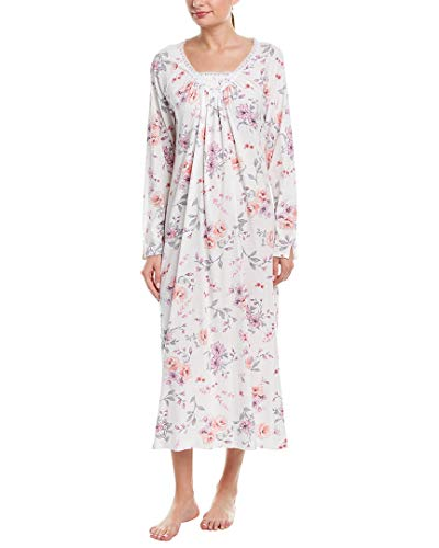(Carole Hochman Women's Rose Floral Long Gown, Multi, M)