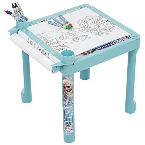 Disney congelado Elsa Y Anna Girls mesa de colorear – Luz Azul ...