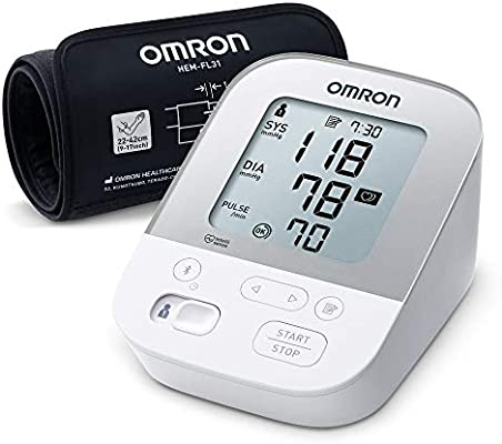 OMRON Healthcare X4 Smart Monitor de Tensión Arterial, Con Manguito Inteligente y Bluetooth