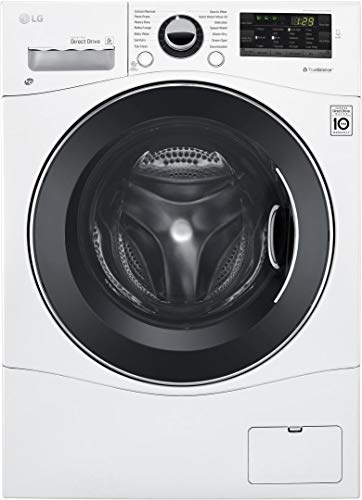 LG WM3488HW 24″ Washer/Dryer Combo with 2.3 cu. ft. Capacity, Stainless Steel Drum in White (Certified Refurbished)