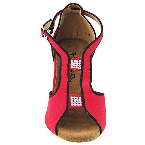 50 Nuances De Chaussures De Danse Rouge: Robe De Soirée Confort, Pompes De Mariage, Chaussures De Bal Pour Latin, Tango, Salsa, Swing, Art De La Mode Par 50 Teintes (2.5, 3 Et 3.5 Talons) 2825- Velours
