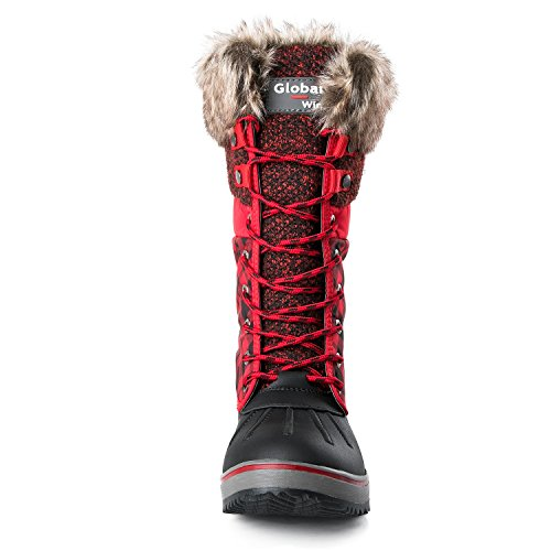 Global Boots Red 1733black Winter Win Snow Women's GLOBALWIN 1730 AAvxrqC
