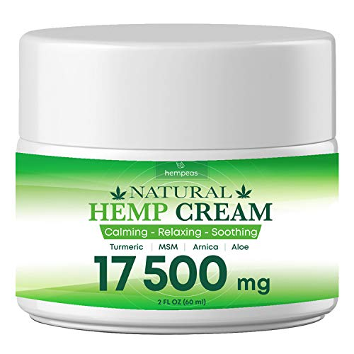 BLOOMCROP Organic Hemp Pain Relief Extract 17 500 Mg, Made in USA, Non-GMO, Natural Hemp Oil for Pain Relief