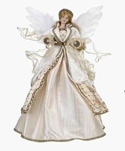"Roman 18"" Elegant Cream, White and Gold Angel Christmas Tree Topper - Unlit"