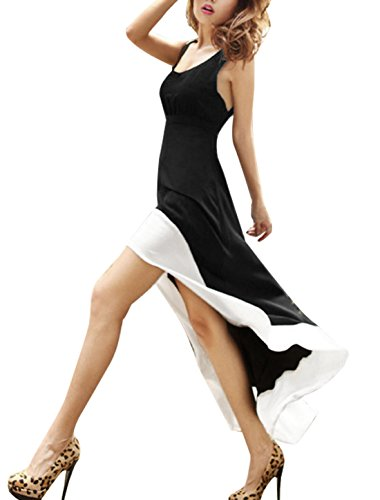 High Open Back Sexy black white Women Allegra Low Cross Dress K Sleeveless Party wX0FYTq