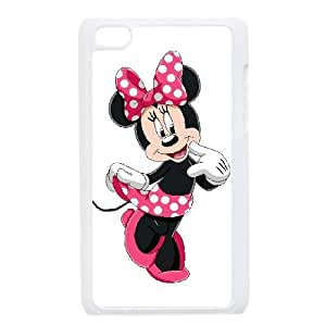 Personality customization TPU Case with Disney Mickey Mouse Minnie Mouse iPod Touch 4 Case White