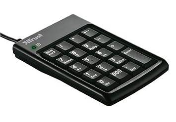 Trust KP-1200p - Teclado numérico con Hub USB de 2 puertos integrado, color