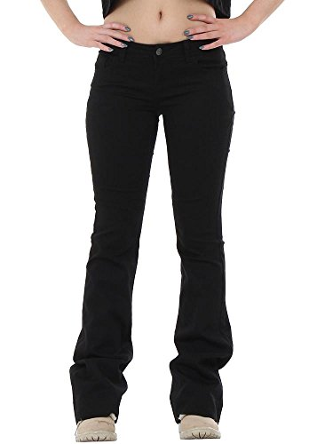 Cindy. H 60s 70s Style Flared Bootcut Stretch Hipster Jeans - Black (US4 / UK6) - Hipster Jeans For Women
