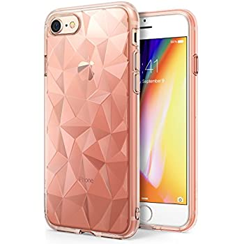 Apple iPhone 8 Case Ringke [AIR PRISM] 3D Artistic Jewels Design Slim Unique Diamond Stylish Pattern Soft Gel TPU Drop Protection Cover for Apple iPhone 8 / iPhone 7 – Rose Gold Crystal