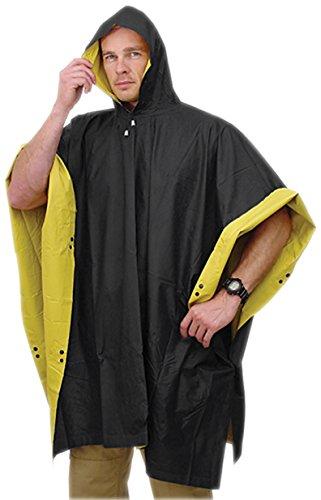 HD 52'' x 80'' Reversible Poncho RUBBERIZED Rain Coat Waterproof PVC w/ (Heavy Duty Rain Poncho)