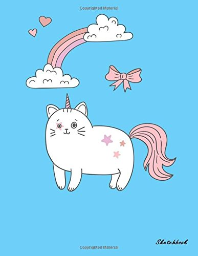 Sketchbook: Cute Unicorn Kawaii Sketchbook for Girls: 110 Pages of 8.5