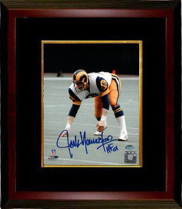 ec3e71130 Jack Youngblood Signed Autograph Los Angeles Rams 8x10 Photograph HOF 01  Custom Framed 3 pt stance
