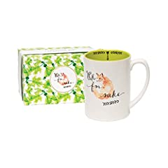Have a laugh while drinking your morning coffee with this funny C.R. Gibson 'For Fox Sake' Porcelain Mug. This witty features a cute fox with the quote ''Oh For Fox Sake.' and on the inside the sentiment reads 'What now?''. This mug can hold ...