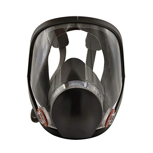 Muhubaih Full Face Respirator Mask For 6800 Masks Organic Vapors N95 Level Silicone Respirator Mask,Wide Field of View Full Face Dust Gas Mask for Paint Pesticide Chemical Formaldehyde Respiratory