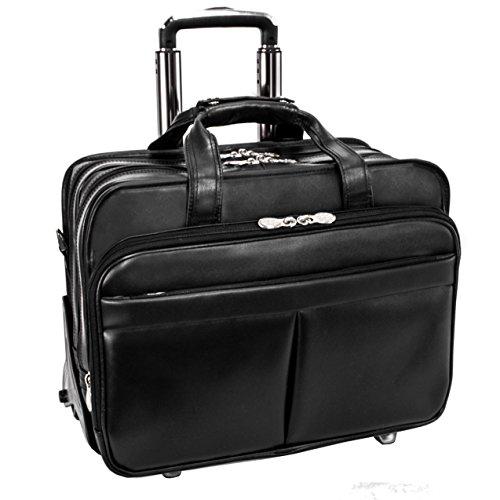 McKleinUSA ROOSEVELT 84555 Black 17 Detachable-Wheeled Laptop Case w/ Removable Sleeve (Napa Computer Case)