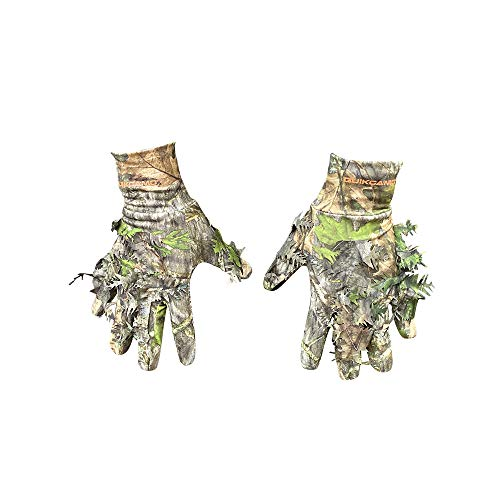 3D Leafy Camo Gloves | NWTF Mossy Oak Obsession | Turkey Hunting Gloves (NWTF Mossy Oak Obsession, Large/XL)