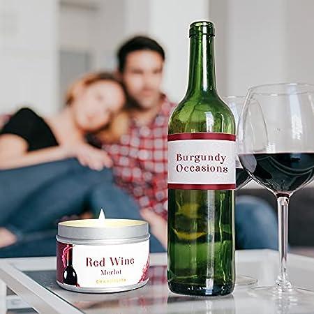 Chandelita Vela Aromática Perfumada de Vino Tinto Merlot con Cera de Soja Natural para Meditar y Relajar Nuestra Mente y Cuerpo Disfrutando de una Sensación de Bienestar