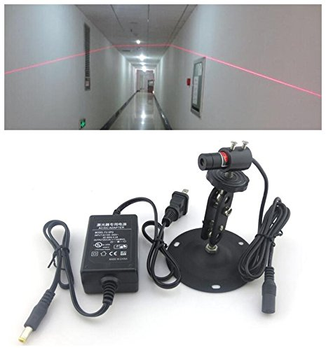 Price comparison product image 30mw 650nm focusable red line laser diode Generator Module light + Power adapter + Mount