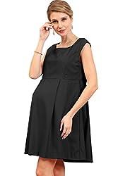 Sweet Mommy A-line Sleeveless Maternity and Nursing Dress BKM